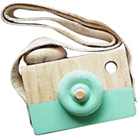 Wooden Mini Camera Toy Pillow Kids' Room Hanging Decor Portable Toy Gift Green Color