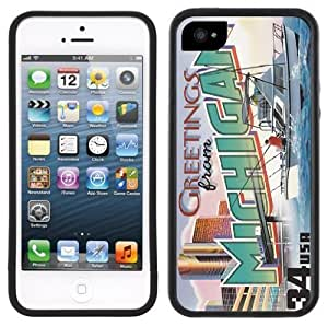 Michigan Postcard Handmade iPhone 5 Black Bumper Plastic Case by Maris's Diary