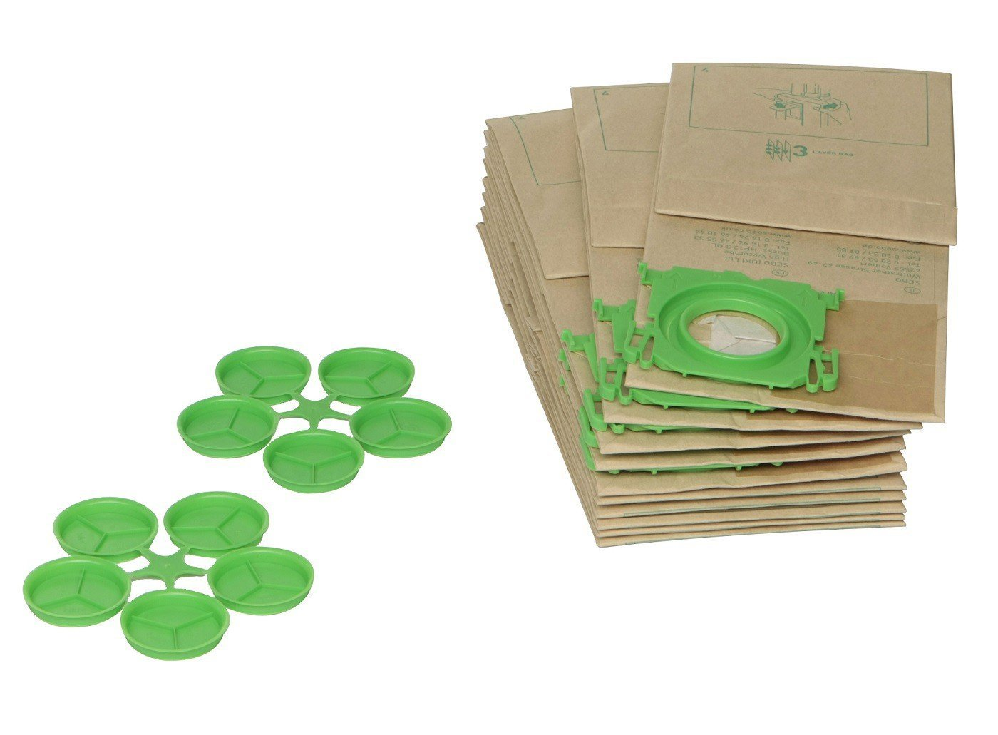 Genuine Sebo X7/X8/sacchetti di carta/ /Automatic X Epower /Confezione da 10/sacchetti Sebo 3/strati di polvere adatto a tutti i modelli x 7/