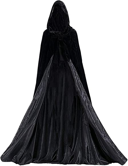 Black Brand New Medieval Renaissance Adult Cape