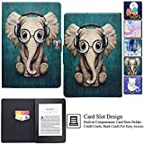 Kindle Paperwhite Case,Artyond PU Leather Card Slot Case [Auto Wake/Sleep] Smart Magnetic Soft TPU Folio Case for Amazon Kindle Paperwhite (Fits All 2012, 2013, 2015 and 2016 Versions) (Elephant)