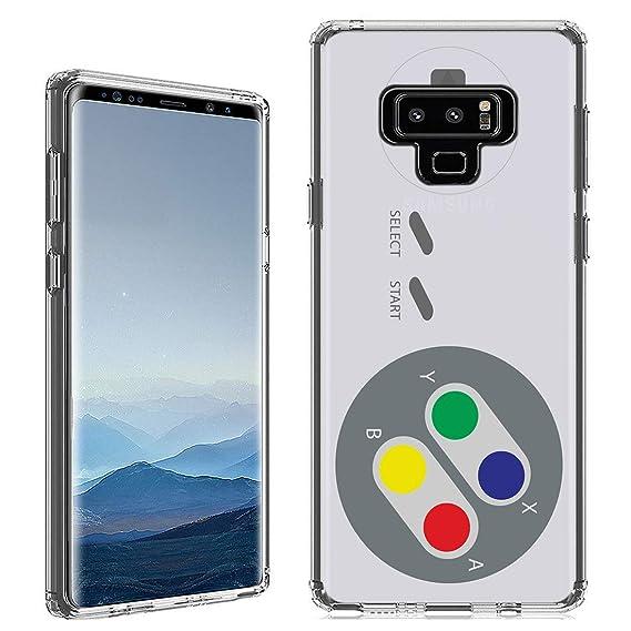 Amazon com: Galaxy Note 9 Case [SNES Controller](Clear