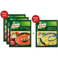 3 Units Knorr Classic Thick Tomato Soup + 1 Unit Knorr Classic Sweet Corn Soup