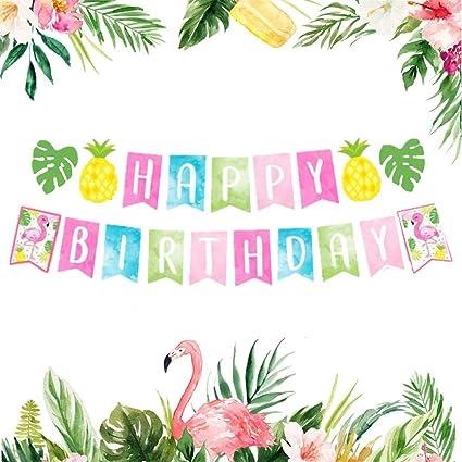 Amazon.com: LaVenty - Pancarta de cumpleaños con diseño de ...