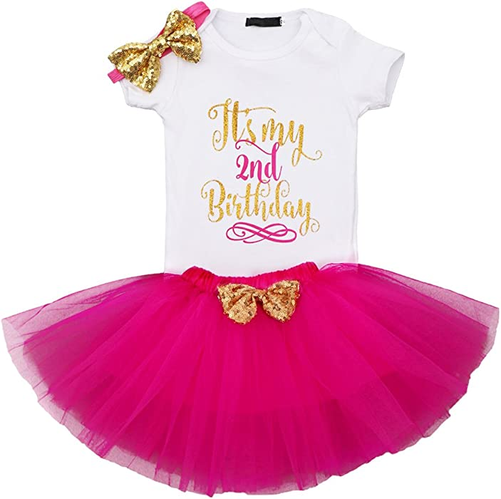 a2b56634e512 Amazon.com  It s My First Second Birthday Outfits
