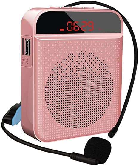 Banane Amplificador Voz portátil, Blutooth Cintura Amplificador Voz Altavoz Recargable con Micrófono Personal, para guía de Viaje, Profesores, Entrenadores, presentaciones: Amazon.es: Hogar