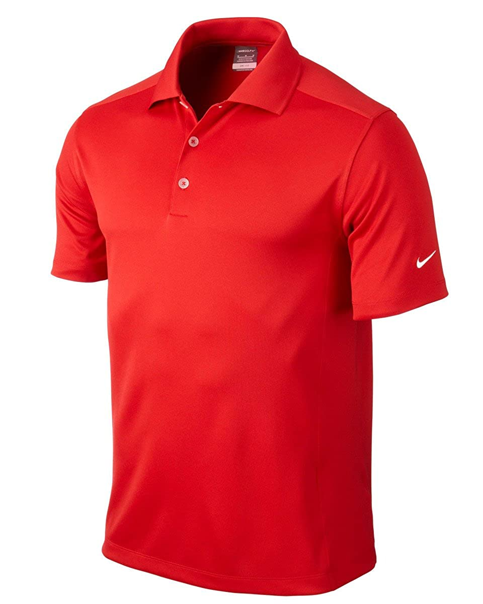 Nike Golf Dri-Fit Solid Polo Varsity Red S by Nike: Amazon.es ...