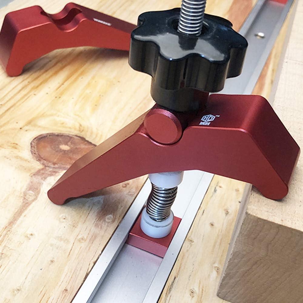 4PCS Pince de Maintien /à Action Rapide Outils de Travail du Bois KKmoon T-Track Clamp Set en Alliage dAluminium Rainure en T Kit de Colliers de Serrage en T