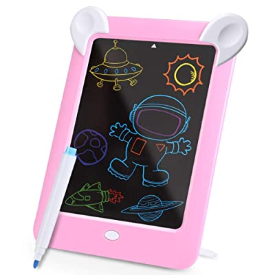 Kennifer LCD Writing Tablet, Kids 3D LED Luminous Magic Drawing Pad, 10 Inch LCD Handwriting Drawing Doodle Board, Erasable Sketching Notepad for Kids and Adults: Arts, Crafts & Sewing