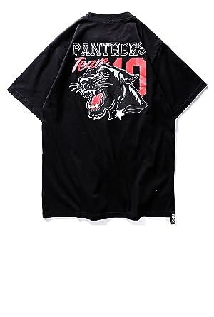 Amazon メンズ tシャツ 半袖 アニマル イラスト プリント 英字