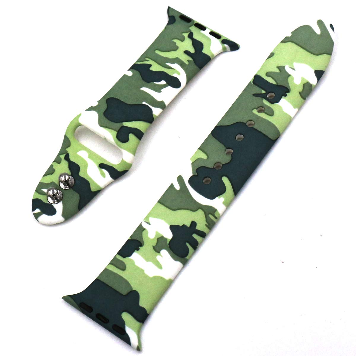 Eletespt 40mm Straps ompatible with Apple Watch Series 4 3 2 1 Bands, Sport Durable Accessories Replacement Band Strap for iWatch Men Women 38mm Wristband (Camo 38MM)     by Eletespt (Image #4)