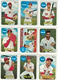 Cincinnati Reds / Complete 2018 Topps Heritage Baseball 9 Card Team Set! Includes 25 Bonus Reds Cards!