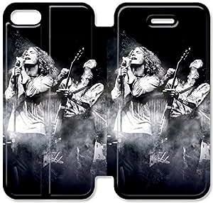 Funda del tirón del cuero de la PU del soporte para el Funda iPhone 5 de 5S, Bricolaje Caja del teléfono celular 5 5S Led Zeppelin 4 Q8D7CM caja DIY Durable