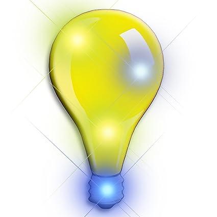 Flashing Blinking Light Bulb LED Body Light Lapel Pins(5 Pack)