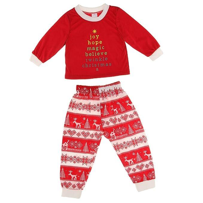 MagiDeal Pijama Ropa de Dormir para Bebés de Mamá Papá Familia de Navidad Set Adultos -