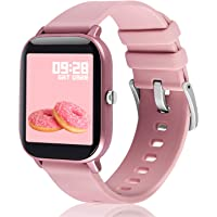 Smart Watch, Fullmosa S3 1.4-inch Full-Touch Fitness Tracker with Heart Rate/SpO2/Female…