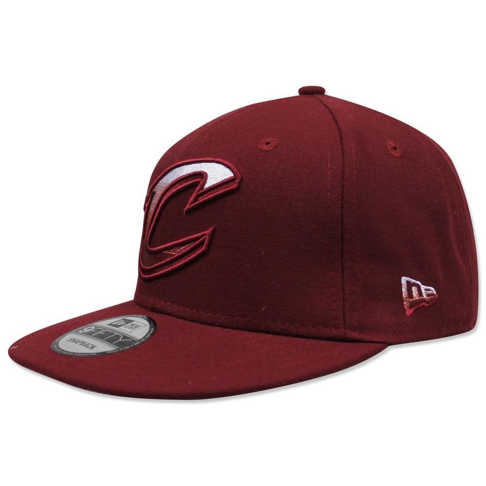 New Era 950 Cleveland Cavaliers Fadedフロントスナップバック帽子( Burgundy ) NBAキャップ   B07CBG8X9W