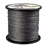 HERCULES Super Strong 100M 109 Yards Braided Fishing Line 80 LB Test for Saltwater Freshwater PE Braid Fish Lines 4 Strands - Black, 80LB (36.3KG), 0.48MM