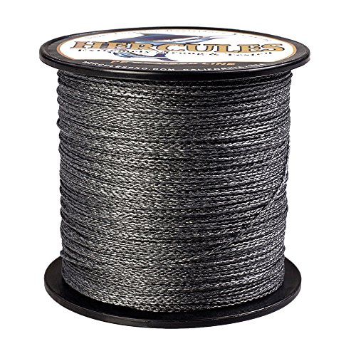 HERCULES Super Strong 100M 109 Yards Braided Fishing Line 100 LB Test for Saltwater Freshwater PE Braid Fish Lines 4 Strands - Black, 100LB (45.4KG), 0.55MM (100 Lb Fishing Line)