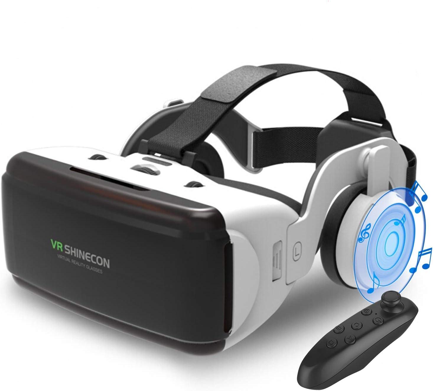 Kakugo 3D VRゴーグル ヘッドホン付き VRコントローラー