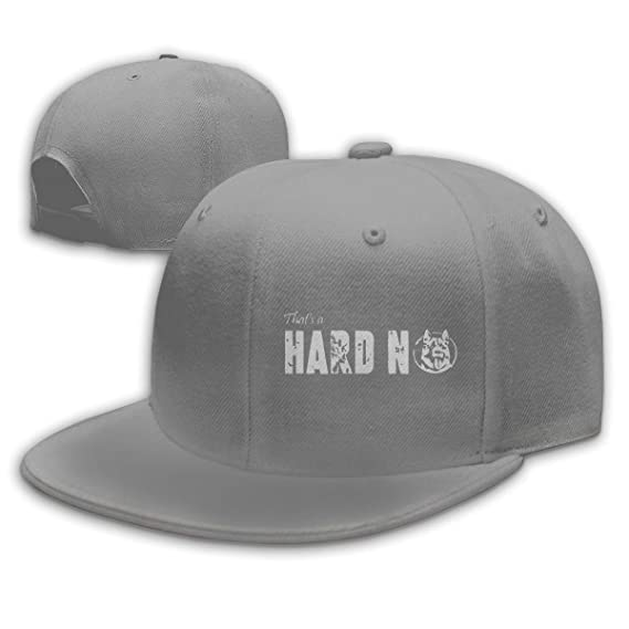 That s A Hard No Letterkenny Baseball Cap Flat Bill Hat Snapback Hats Black  at Amazon Men s Clothing store  c0dc889911a4