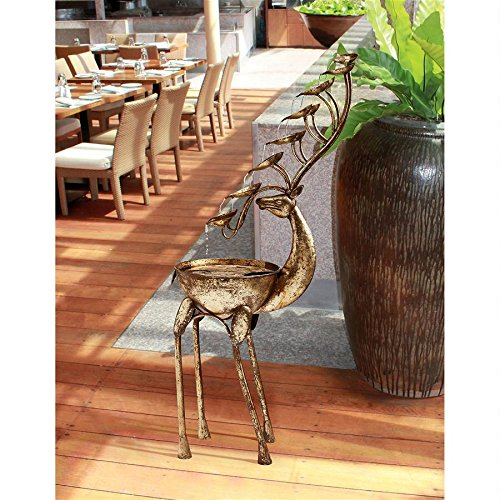 Deer Antler Falls Metal Fountain
