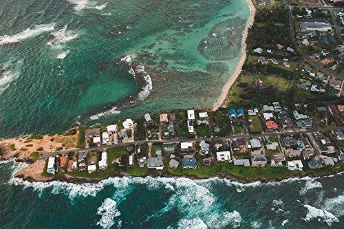 Home Comforts Laminated Poster Community Seacoast Coastal Aerial Peninsula Poster 24X16 Adhesive Decal
