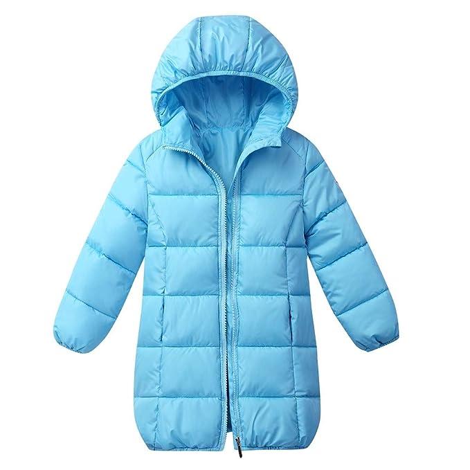351572e06 Mitlfuny Invierno Plumífero Acolchado Chaqueta Niñas Niños Bebé Plumas Ropa  Algodón Abrigo con Capucha Cálido Manga