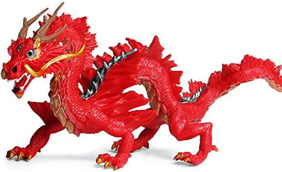 DIYARTS Juguete del Dragón Chino Modelo de Animal de ...