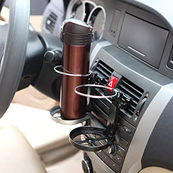 Amazon.es: Portátil clip-on Car Truck A/C montaje portavasos soporte automovilística bebidas botella de agua puede plegable multifunción