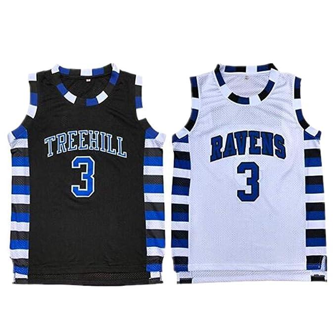e5a805b9 Lucas Scott #3 One Tree Hill Ravens Throwback Basketball Jersey S-XXL