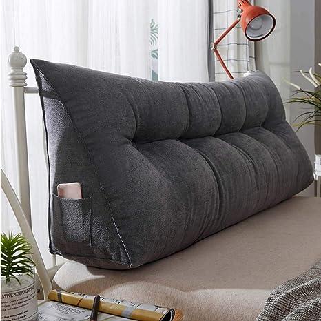 Amazon.com: Cojín de cuña triangular tapizado de pana para ...