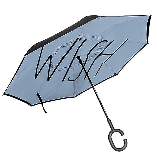 Csiemns Wish Paraguas invertido invertido de protección UV al ...