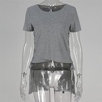 Manga corta camiseta de clubes europeos y americanos señoras, gris ,M