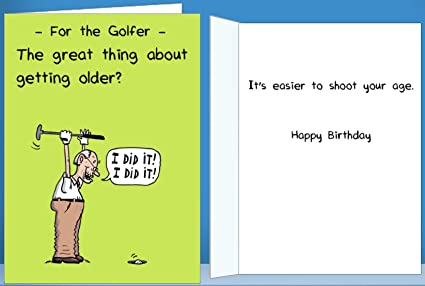 Amazon Golf Birthday Card For Him Funny