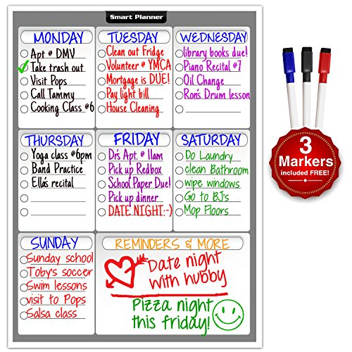 smart-planner-weekly-multi-purpose-magnetic-refrigerator-dry-erase-board-with-3-magnetic-dry-erase-m