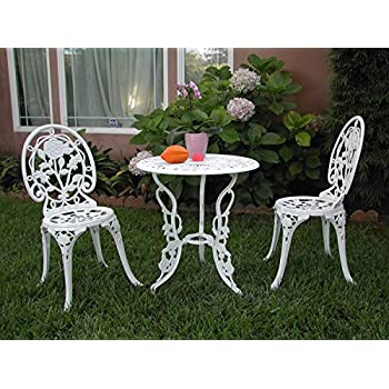 Amazon Com Outdoor Patio Furniture 3 Piece Cast Aluminum