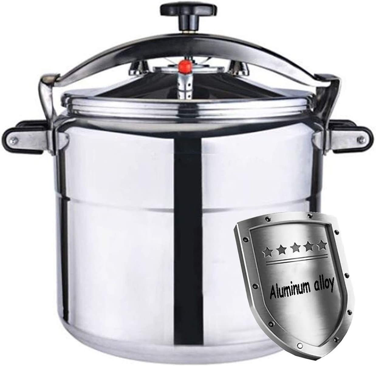 3-80L Large capacity pressure cooker, commercial soup pot household steame hotel pot ordinary kitchen utensils, can be used for kitchen, restaurant and hotel supplies (Color : Silver, Size : 22L)