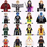 16ps Apocalypse X-MEN Minifigures Nightcrawler Shadowcat Magneto Angel Fit Lego