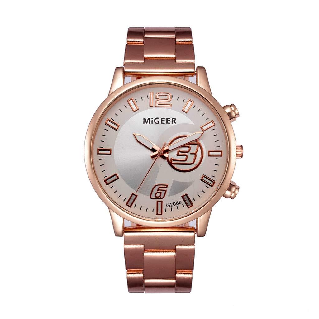 FEDULK Womens Watches Elegant Crystal Stainless Steel Analog Quartz Light Luxury Wrist Watch(White, One Size)