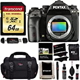 Pentax K-1 Full Frame DSLR Camera Body Only, Transcend 64 GB UHS-3 Flash Memory Card, Ritz Gear SLR Gadget Bag, Ritz Gear Cleaning Kit, Ritz Gear Reader, Polaroid Screen Protector & Memory Card Wallet