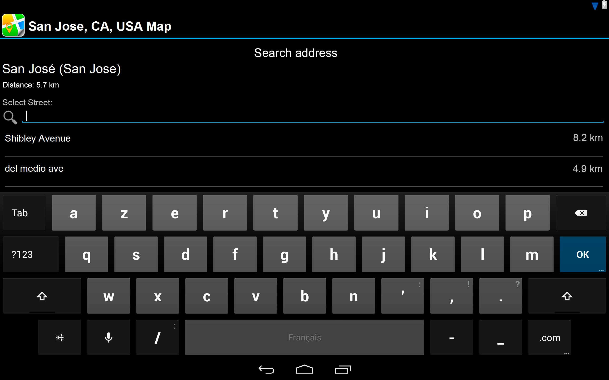 Amazoncom San Jose CA USA Offline Map PLACE STARS Appstore - Map of usa showing san jose