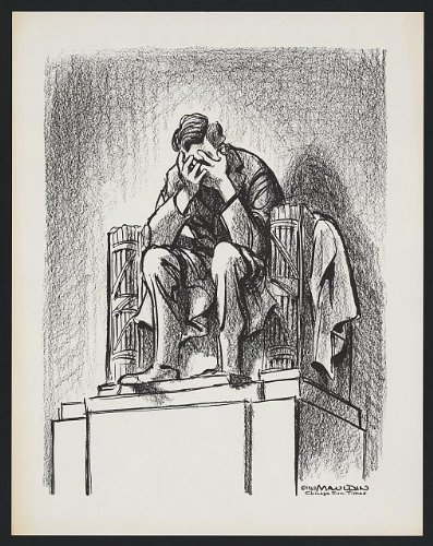 (HistoricalFindings Photo: Lincoln Memorial,cry,John Kennedy,assassination,c1963)