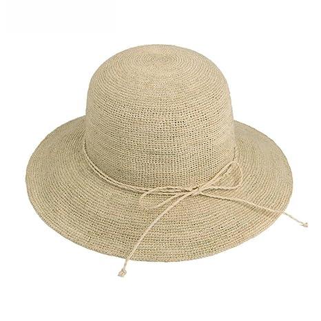 yxiny gorras visières sombrero sombrero de paja sombrero de playa Shade Sun  Cap de protección plegable 22f657af912