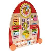 Dovewill Wooden Calendar Board Teaching Clock Show Calendar Date Season Weather Kids Cognitive Toy