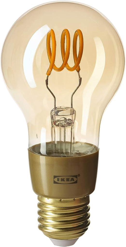 Ikea Tradfri Bombilla Led De Filamento Inteligente Tipo Globo E27 250 Lumenes 2200 K De Brillo Calido 704 556 76 Amazon Es Hogar