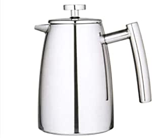 Avanti Modena Twin-Wall Coffee Plunger, Silver, 15785