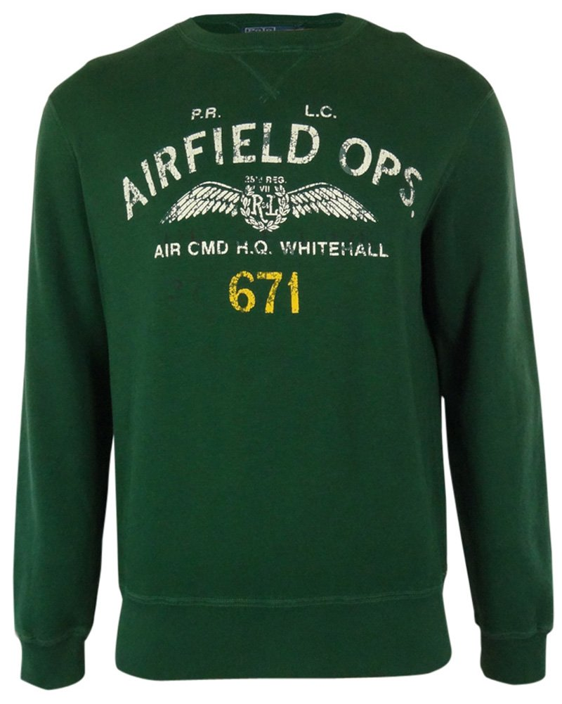 Polo Ralph Lauren Mens Airfield Ops Sweater (Large)