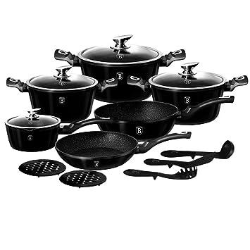 Berlinger Haus BH-1664N - Juego de utensilios de cocina (15 piezas), color negro: Amazon.es: Hogar