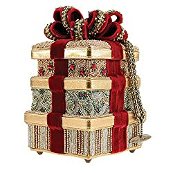 3D Beaded Ribbon Christmas Gift Handbag